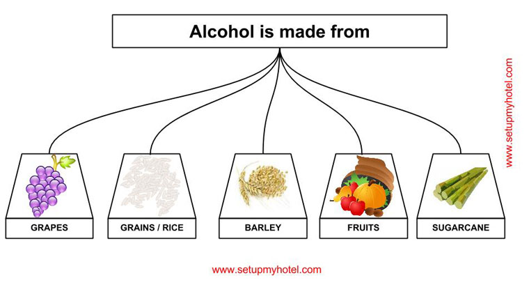 Different Type of Alcoholic Beverages | Chart of Alcoholic Beverages
