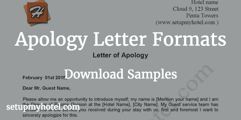 Apology letter sample send to hotel guests sample format of apology letter apologize letter used in hotels for service issue thecheapjerseys Image collections