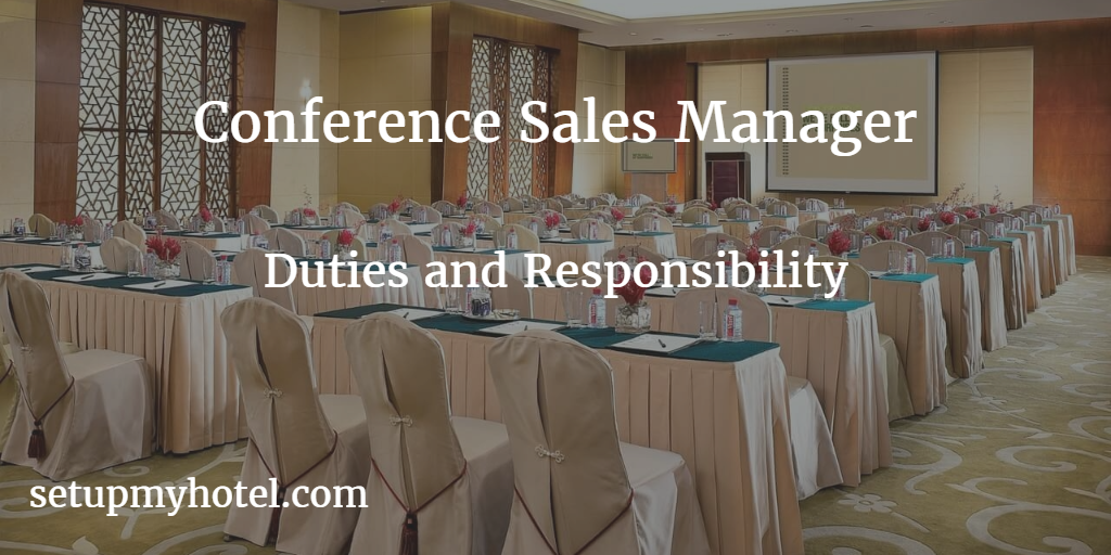 job description for conference and events sales manager
