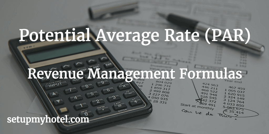 Calculating PAR Rate in hotel Front office, Potential Average Rate (PAR), Rate Spread, Multiple Occupancy Percentage, Potential Average Single Rate, Potential Average Double Rate.