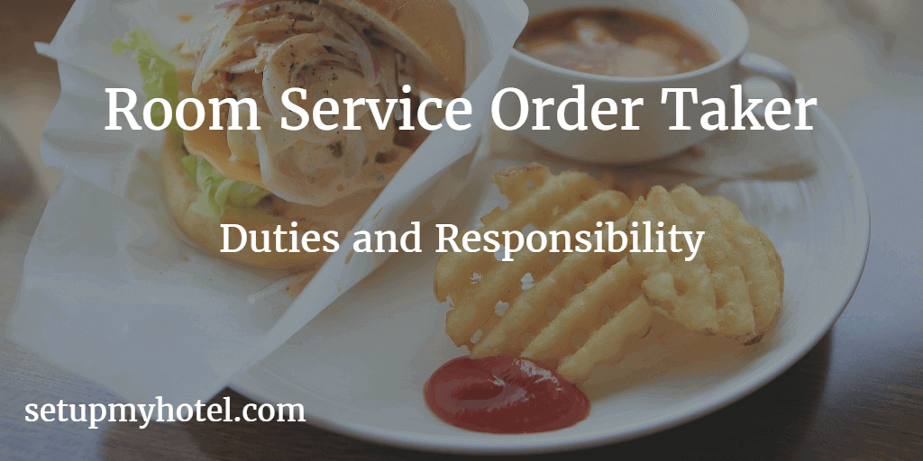 Room Service Order Taker In Room Dining Order Taker
