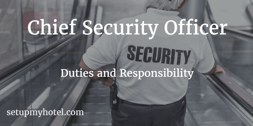 chief security officer    security manager
