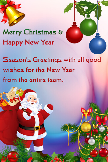 Christmas And New Year Wishes 3  Christmas Wishes Samples