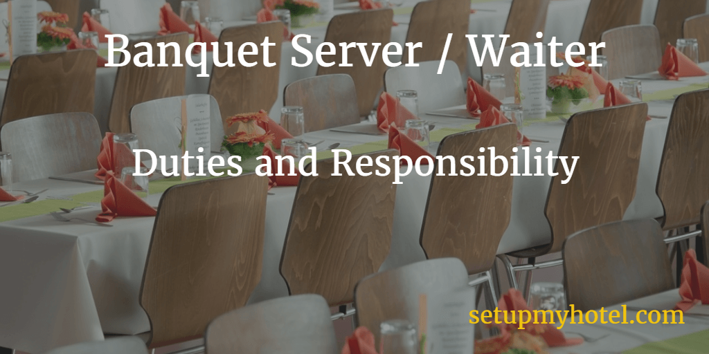 job description for banquet server in hotels - Banquet Job Description