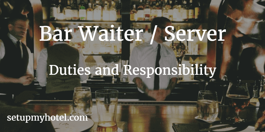 Bar Waiter / Bar Waitress / Cocktail Server