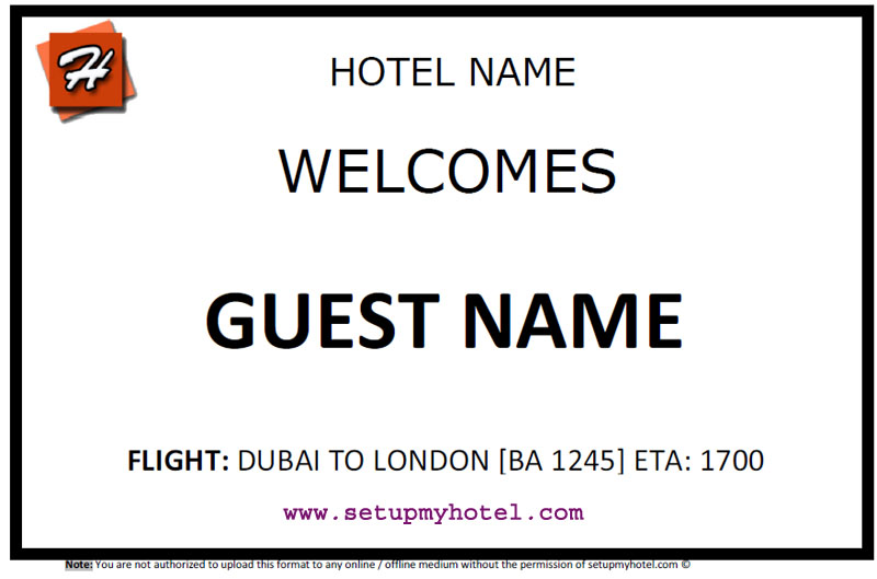 How to make a placard / paging board for receiving guests from airport, station, bus terminal etc.